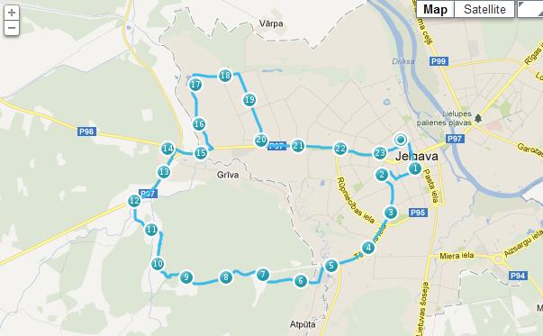 Jelgavas velosezonas atlkāšana