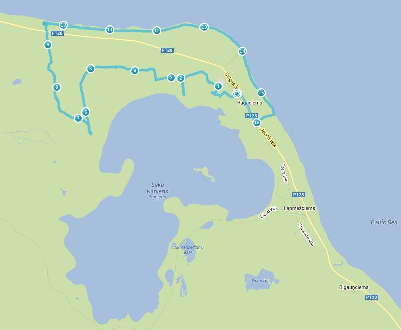 Pārgājiens apkārt Kaņiera ezeram - maršruts