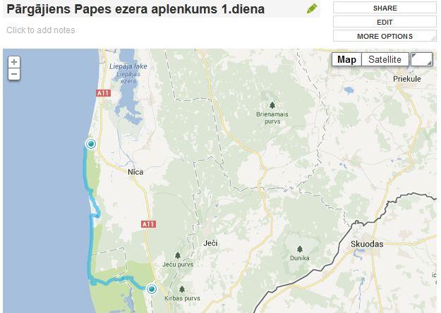 Pargajiens apkart Papes ezeram 1.diena