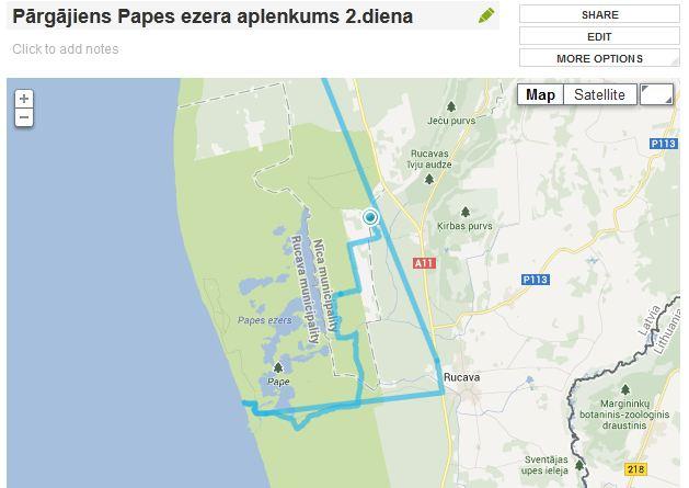 Pargajiens apkart Papes ezeram 2.diena